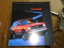 Chevrolet S10 Blazer brochure 1985