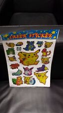 Pokemon Laser Stickers 100 new ind wrapped sheets per pkg Retails $100 & up