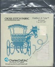 "Charles Craft® 14ct FIDDLER'S II ""LITE"" Cross Stitch Fabric ~ OATMEAL ~ 12""x18"""