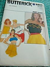 Vintage Butterick 4401 Misses Tops sz small FAST AND EASY Uncut  Sewing Pattern