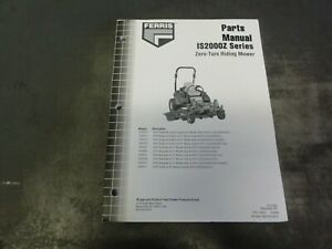 Ferris IS2000Z Zero Turn Riding Mower Parts Manual   5101930 Revision IR