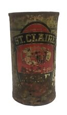 St. Claire flat top beer can