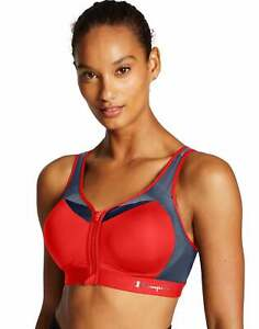 Sports Bra Champion Motion Control Zip Maximum Support Double Dry Adjustable NWT