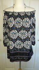 INC Womens Peasant Top Blouse Petite S 3/4 Sleeves EUC! PRETTY!