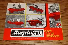 Original 1970 Amphicat Deluxe Sales Brochure 70