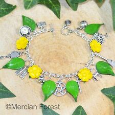 Witches Charm Bracelet - Buttercups  Handmade Pagan Jewellery Wicca Witch Summer