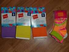 lot of 3 girls tights footless & Socks ~ Hanes   size 4
