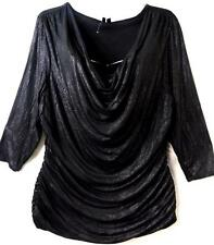 Maurices black shimmer cowl neck plus size top 2,2X