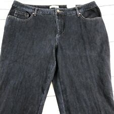 NWT Coldwater Creek Dark Wash Jeans Sz L18 Classic Fit 5-Pocket Stretch Long