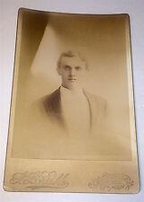 Antique Victorian Actor Drew T. Harthorn, Coburn Institute! Maine Cabinet Photo!