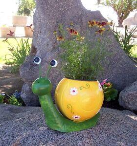 Snail Planter Regal Art Metal Colorful Planter
