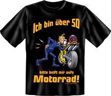 FUN T-SHIRT 50 Geburtstag  Geschenk  Motiv Motorrad  Gr. S M L XL XXL  NEU  4621