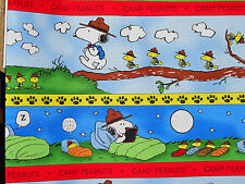 Charlie Brown Camping Border Strip Print cotton fabric BTY Quilting Treasure