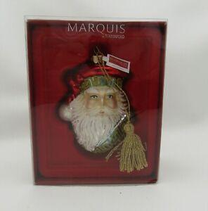 NEW Marquis By Waterford Glass Royale Santa Head Christmas Ornament NIB 155071