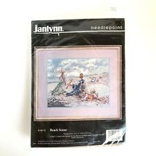 "New ListingJanlynn Needlepoint Beach Scene Victorian 136-12 14"" x 11"""