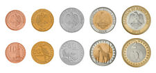 South Sudan Set of 5 Coins, 10 20 50 Piastres 1 2 Pounds, Bimetal,  2015, UNC