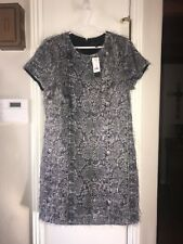 BANANA REPUBLIC DRESS 14 NWT $148.00 BLACK LINED GATSBY STYLE WHIMSICAL GORGEOUS