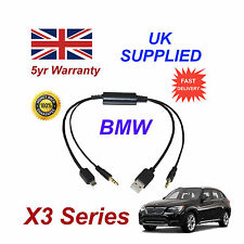 BMW X3 Series Audio Cable For Samsung Galaxy, HTC, Blackberry, LG, Nokia Sony