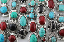 20pcs Turquoise Jewelry Mixed Lots Lady's Alloy Adjustable Fashion Rings