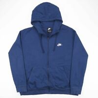 NIKE Navy Blue Embroidered Logo Sports Hoodie Sweatshirt Men's Size 2XL