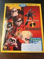 The Incredibles (2 Blu-ray/Dvd/Digital Copy,4-Disc Set) w/ Slipcover. Box4