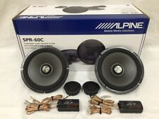 "ALPINE SPR-60C 6.5"" COMPONENT CAR SPEAKER / 6-1/2-INCH CAR AUDIO SPEAKER TYPE R"