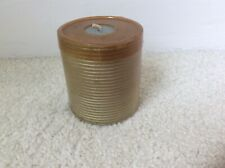 DECORATIVE RIBBED MEDIUM SILVER ROUND CANDLE NEW