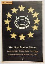 U2 1993 original Poster Advert Zooropa