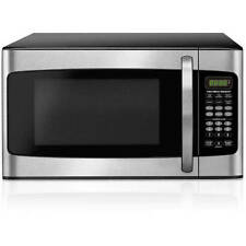 Hamilton Beach 1.1 CU FT Microwave Oven 1000W Kitchen LED Display Stainless Dorm
