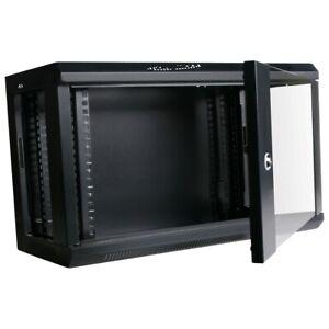 "6RU 19 Inch 300mm Deep Wall Mount Cabinet Server Rack Data Network Comms  4U 19"""