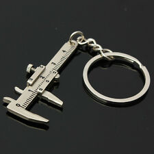 Charm Pendant 3D Movable Key Ring Key Fob Vernier Caliper Key Chain Key Holder