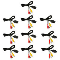Lot10 6FT AV TV Video Audio Cable Cord to RCA for Nintendo Gamecube GC N64 SNES