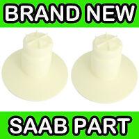 Saab 9-3 (03-11) Rear Axle Spring Lower Bump Stop Absorbers (Pair x2)