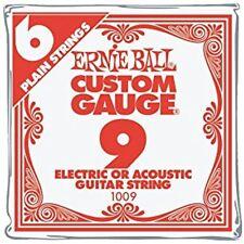 Ernie Ball Electric Guitar Strings Nickel Plain Single .009 6-Pack