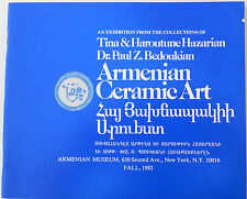 Armenian Ceramic Art,Armenia,Armenie,Armen ien,Paul Bedoukian,1982 Brochure