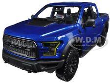 2017 FORD RAPTOR PICKUP TRUCK BLUE 1/24 DIECAST CAR MODEL BY MAISTO 31266