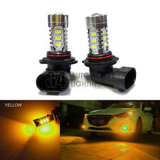 2x HB3 9005 LED Fog Light Bulbs 15W SMD 5730 12V High Power Bright Golden Yellow