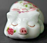 Vintage Avon Porcelain Pig Pomander by Ceramarte of Brazil 1978