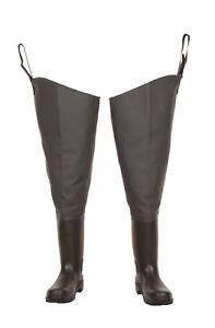 Green THIGH Waders LEMIGO  Standard  PVC HIP boots  7-12 UK  41- 46 EU