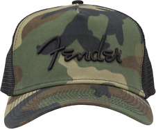 Fender Camo Snapback Hat with Fender Embroidered Logo, Fits Most, MPN 9124000100