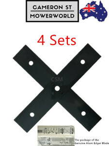 4 Sets GENUINE ATOM Edger Blade Fits All Red and Green Petrol Edgers-43105,43089