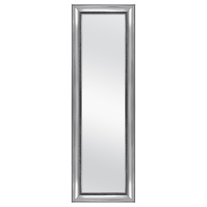 """Mainstays Over-the-Door Wall Mirror, Silver Ornate Finish, 17"""" x 53"""","""