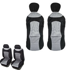 3D Mesh Cloth Car Front Seat 2 Protective Covers Reserved Airbag Ejection Exit
