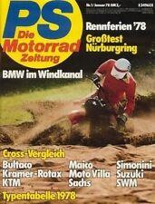 PS7801 + Test YAMAHA XS 750 + Motor BMW R 100 RS + PS 1/1978