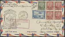 1942AAMC #4203c Quebec to Trois Rivieres Flight Cover, Registered, Scroll Issue