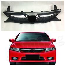 For Honda Civic 2009-2011 Chrome Front Center Grill Bumper Mesh Grille Grill h