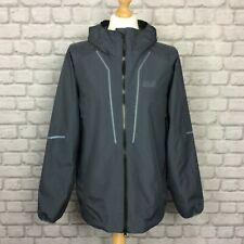 JACK WOLFSKIN MENS UK L GREY ESCALENTE TRAIL INSULATED RECYCLED WATERPROOF COAT