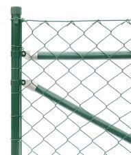 Maschendrahtzaun Höhe 125 cm 25 m lang komplett Set grün Drahtzaun Gartenzäune