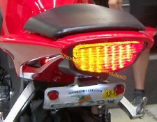 Honda CBR1000RR 08-16 Integrated LED Taillight; Brake and Turns w/ Smoked Lens