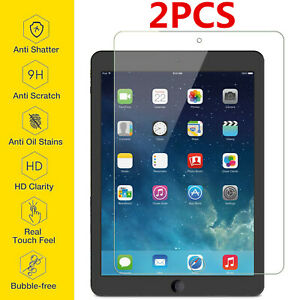 2-Pack Tempered glass screen protector for Apple iPad Air 3 Mini 5 Pro 9.7 10.2
